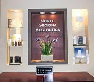 North Georgia Aesthetics Welcome Desk